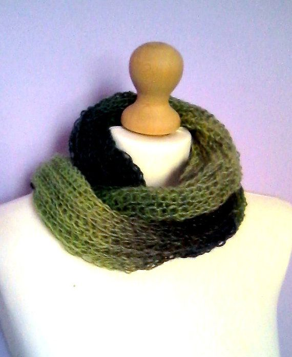 Handmade knitted scarf / made to order/free by KaterinakiJewelry