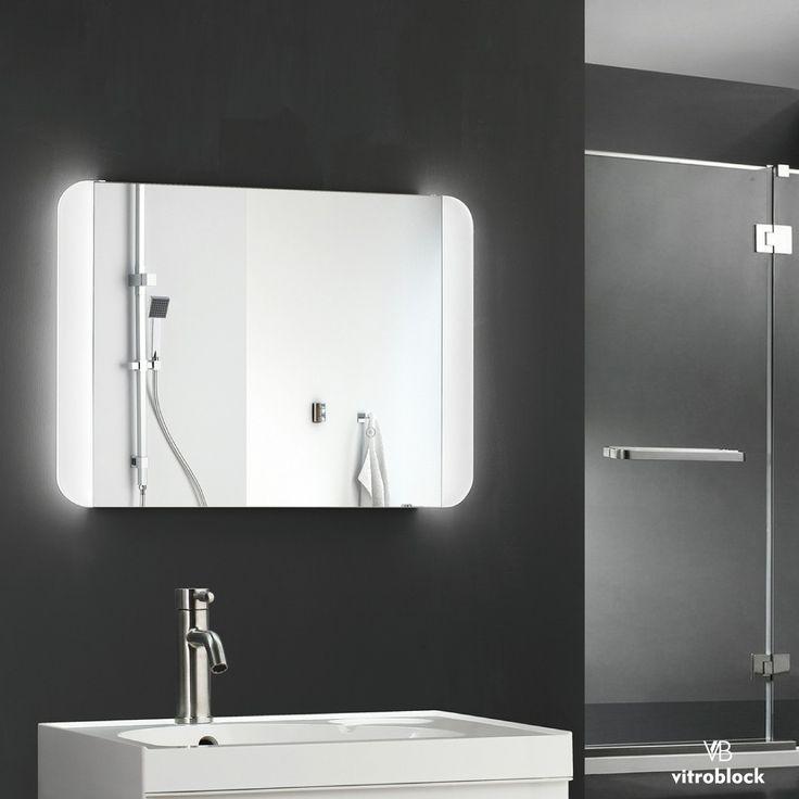 ESPEJO LED GRUVER Iluminación Led | Desempañador | Timer  Medidas disponibles: 🔸70 x 50 x 4,5 cm. . . #Vitroblock #Espejos #EspejosLed #Led #Decoración #Decohogar #Toilette #Baños