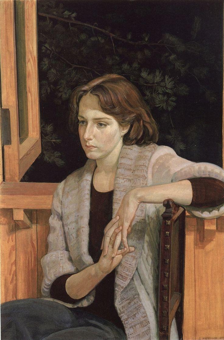 Дмитрий Жилинский. Портрет художника-графика Елены Ульяновой. 1977 год.