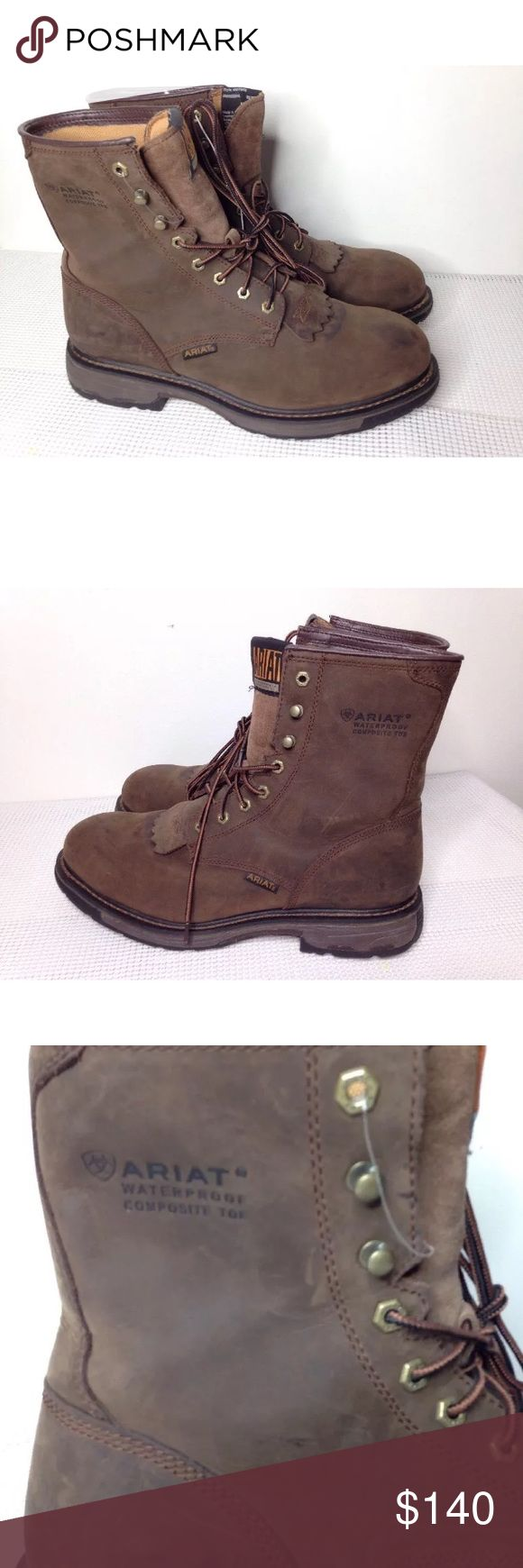 NEW Men's Ariat Brown  Work Boots 13 Extra Wide EE Ariat work boots sz 13  EE. No box. Ariat Shoes Cowboy & Western Boots