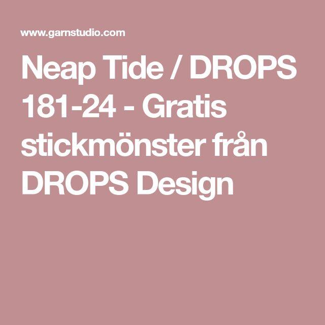 Neap Tide / DROPS 181-24 - Gratis stickmönster från DROPS Design
