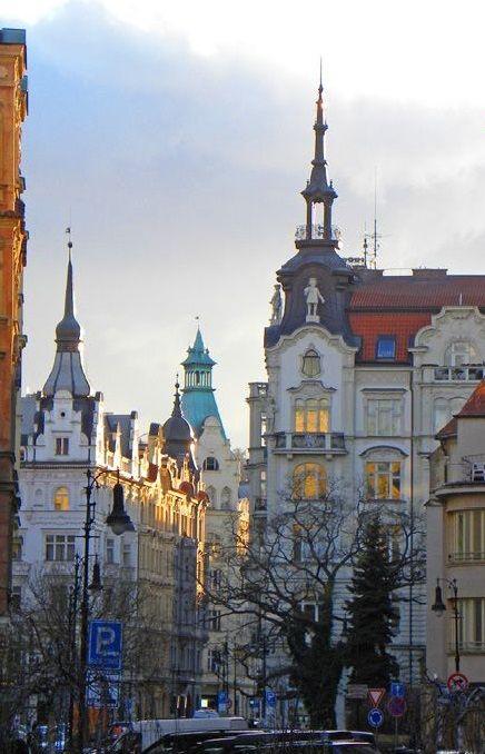 Pařížská street in Old Town, Prague, Czechia #city #czechia #prague