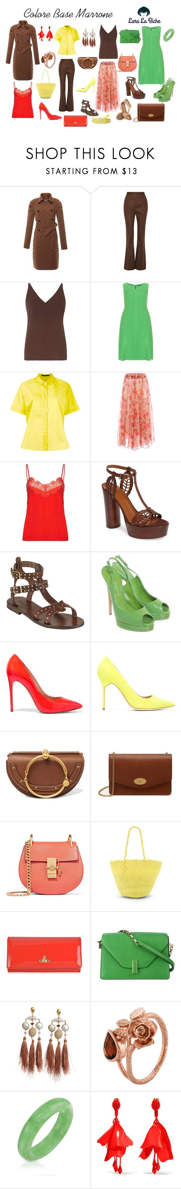 """""""colore base marrone"""" by laralabiche ❤ liked on Polyvore featuring Judy Wu, Marni, Dorothy Perkins, navabi, Sofie D'hoore, Ganni, Aquatalia by Marvin K., Somerset by Alice Temperley, Casadei and Manolo Blahnik"""