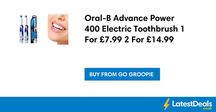 Oral-B Advance Power 400 Electric Toothbrush 1 For £7.99 2 For £14.99 at Go Groopie