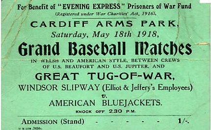 Baseball. Old Baseball Ticket: Baseball Ticket, Amy Baby, Vintage Ticket, Arm Parks, 1918 Benefits, Cardiff Arm, Baby Shower