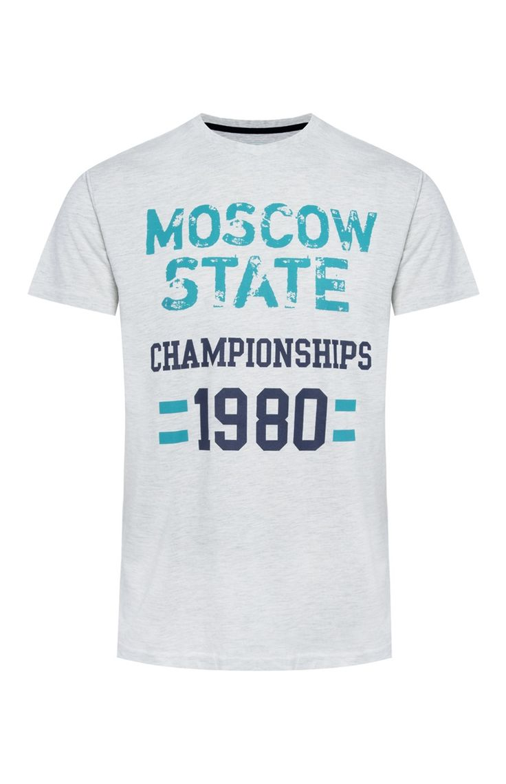 Primark - Grey Moscow Champions T-Shirt