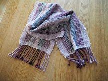 rigid heddle loom woven scarf