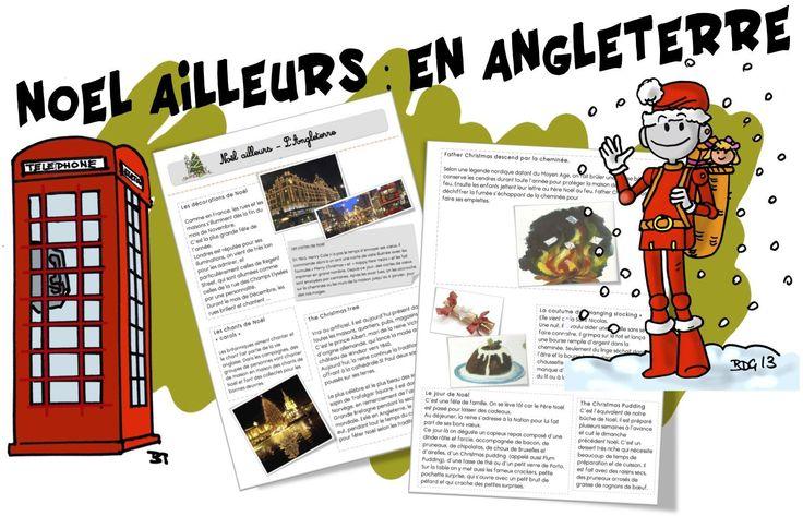 Noël Ailleurs : En Angleterre, Russie, Espagne, Madagascar...avec fiches de lecture - Bout de gomme