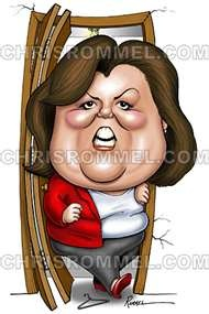 Rosie O'DonnellArt Caricatures, Funny Face, Art Cool Funny, Stands Her Lov, Famous Caricatures, Rosie O' Donnell, Celebrities Illustration, Cans T Stands, Celebrities Caricatures