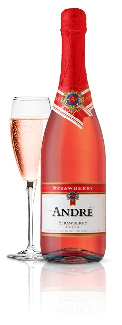 Andre Champagne - Strawberry Champagne, Sparkling Wine, cheap as hell from Rite Aid, every single month.