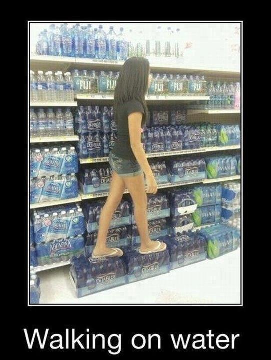 walking on water: Like A Boss, Water, Buckets Lists, Jello Recipes, Gifts Cards, Jesus, Vibrant Colors, So Funny, Weights Loss