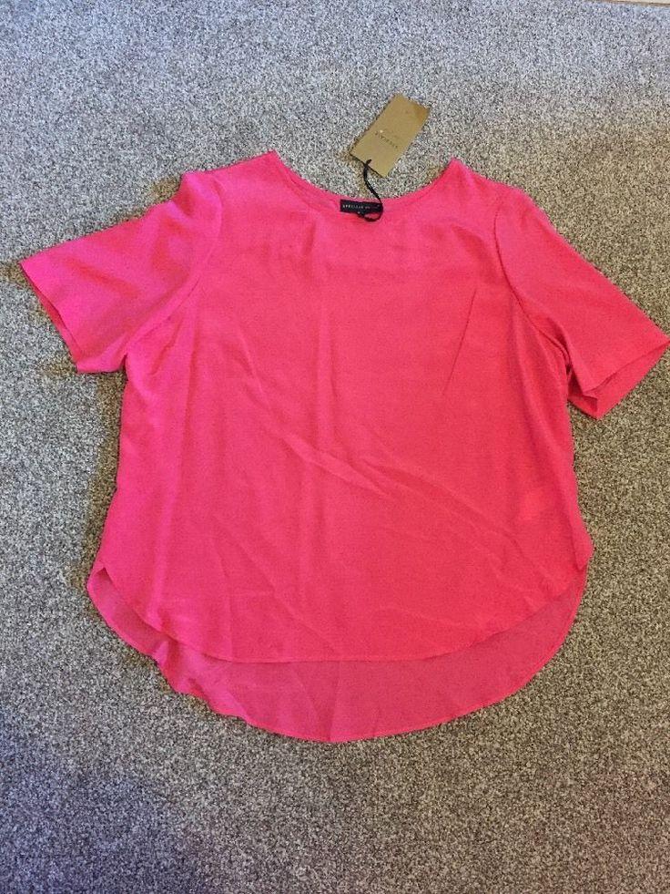 M&S SPEZIALE PER UNA 100% PURE SILK UK16 EU44 BNWT Ladies Summer Shirt/ Top