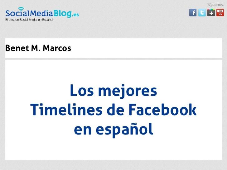 Los mejores Timelines de Facebook en español