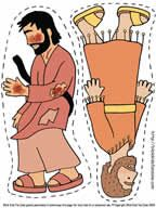 The Good Samaritan puppets to use for the lesson: Love With Actions, Not Just Words. Fun craft for the bible story The Good Samaritan.