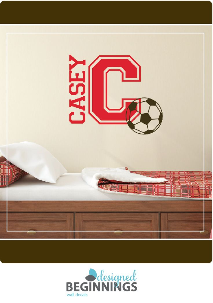 25 best ideas about soccer bedroom on pinterest soccer room boys soccer bedroom and soccer - Soccer murals for bedrooms ...
