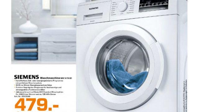 Siemens-Waschmaschine im Saturn-Angebot: Energiesparer zum attraktiven Preis - http://ift.tt/2aBscUl