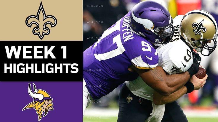 nice Saints vs. Vikings | NFL Week 1 Game Highlights