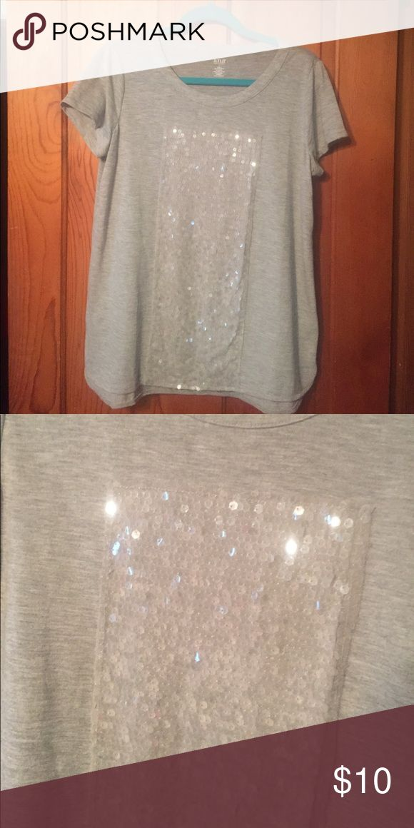 Ana large grey tshirt with clear sequence Large grey Ana t shirt with clear sequence on front a.n.a Tops