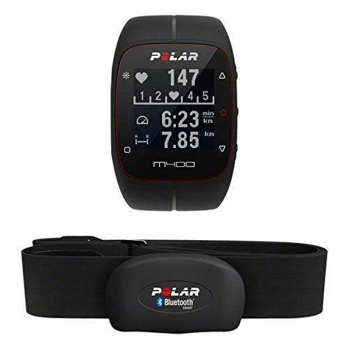 POLAR M400 Sports Watch with GPS and Heart Monitor, Black, One Size. Fitness & Exercise Product. Adult Unisex Fit Product. Official Polar Product.