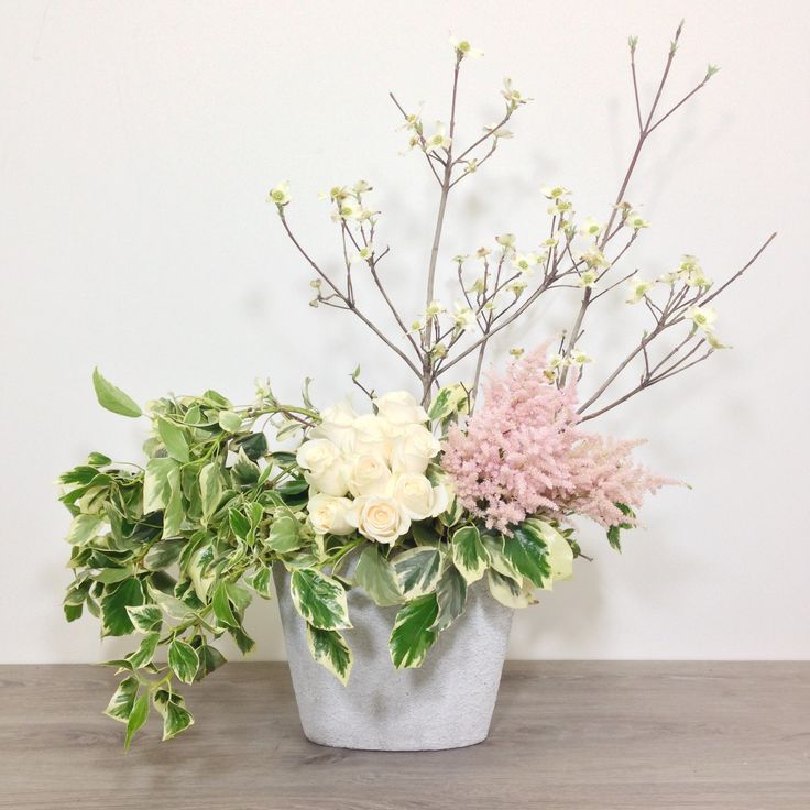 One of our Mother's Day collection arrangements in the limited time lace container.
