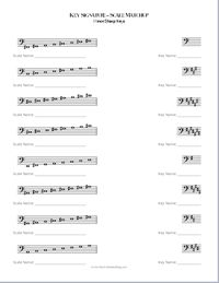 Can you create worksheets for bass clef like the ones for treble clef (Major-Minor Scale Matchup and Key Signature-Scale Matchup)? Your wish is my command. Haha! Maybe not quite, but I figured it w…