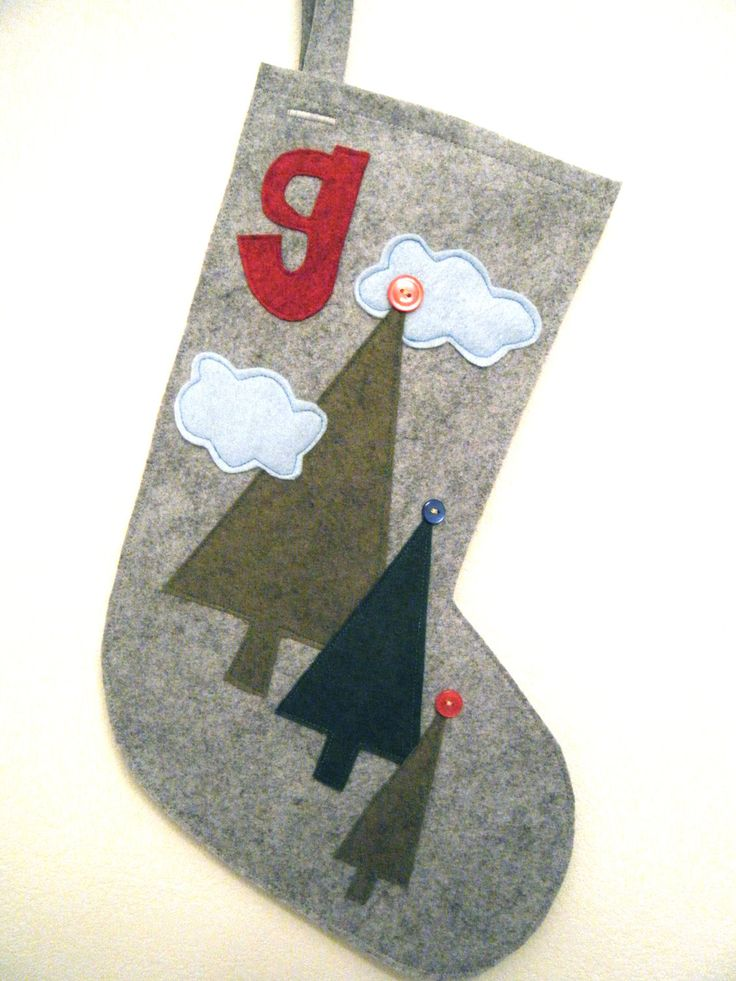 Felt stockings with initial.