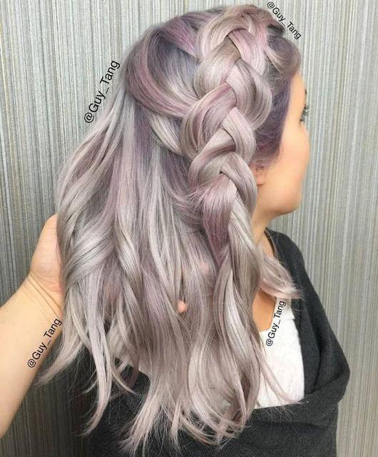 metallic and pastel hair