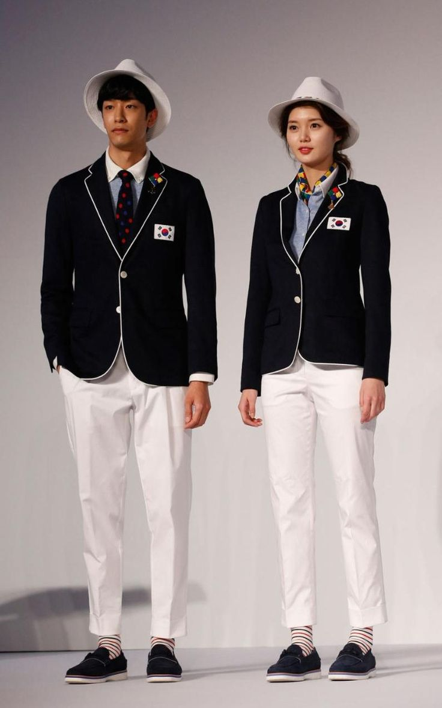 South Korean 2016 Olympic team uniforms