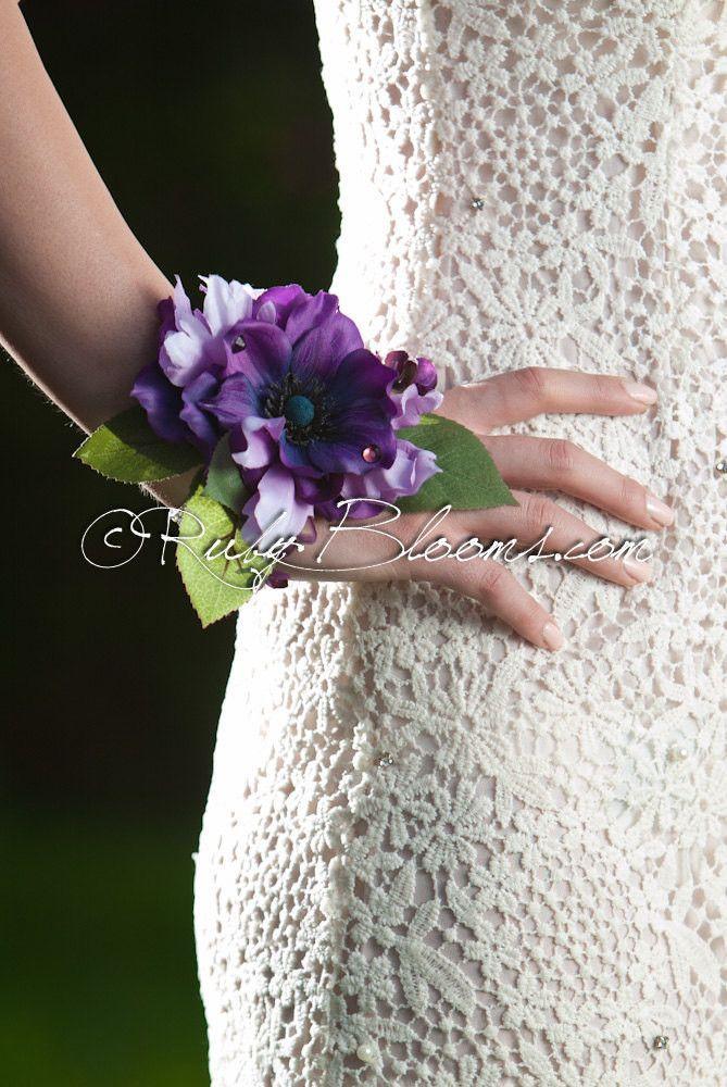 Purple Wrist Corsage