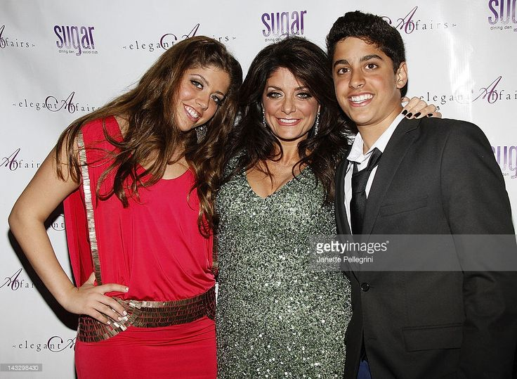 Real Housewife Of New Jersey Kathy Wakile (middle) with her children (L-R) Victoria Wakile and Joseph Wakile attend the 'Real Housewives Of New Jersey' premiere party at the Sugar Dining Den and Social Club on April 22, 2012 in Carle Place, New York.