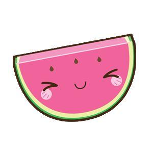 Resultado de imagem para kawaii png melancia