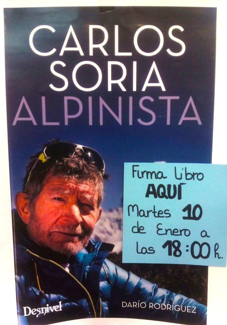 """¿Quieres qué Carlos Soria te firme su nuevo libro """"Alpinista"""" ? Ven el Martes 10 de Enero a las 18:00h a TORO. ¡Te esperamos! #tororegalos #firmadelibro #CarlosSoria #Alpinista #Desnivel"""