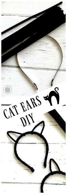 How to Make Cat Ears with a Headband and Pipe Cleaners : Fun Halloween Craft for DIY costumes
