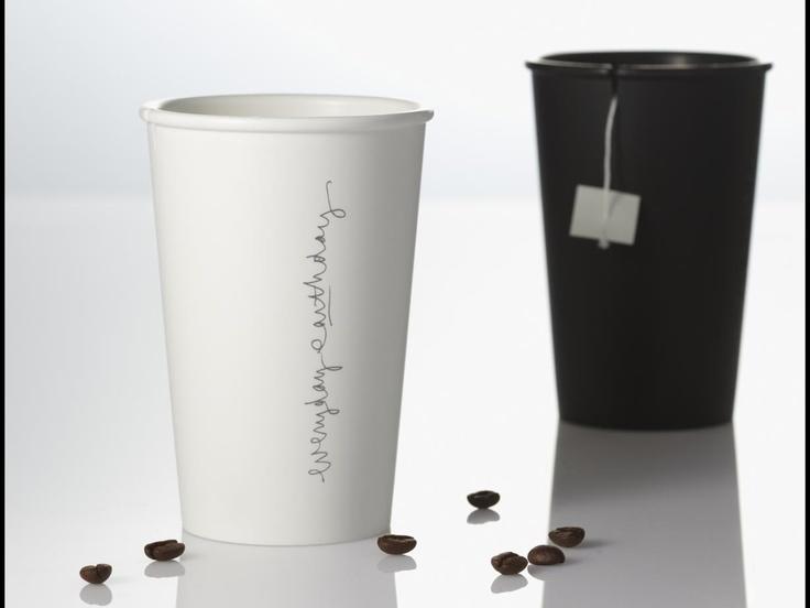 Original cup.  Black & White.