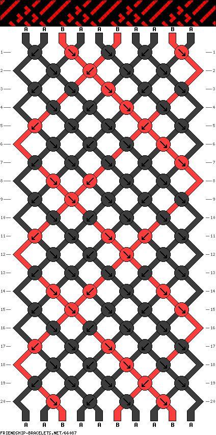 10 strings, 20 rows, 2 colors
