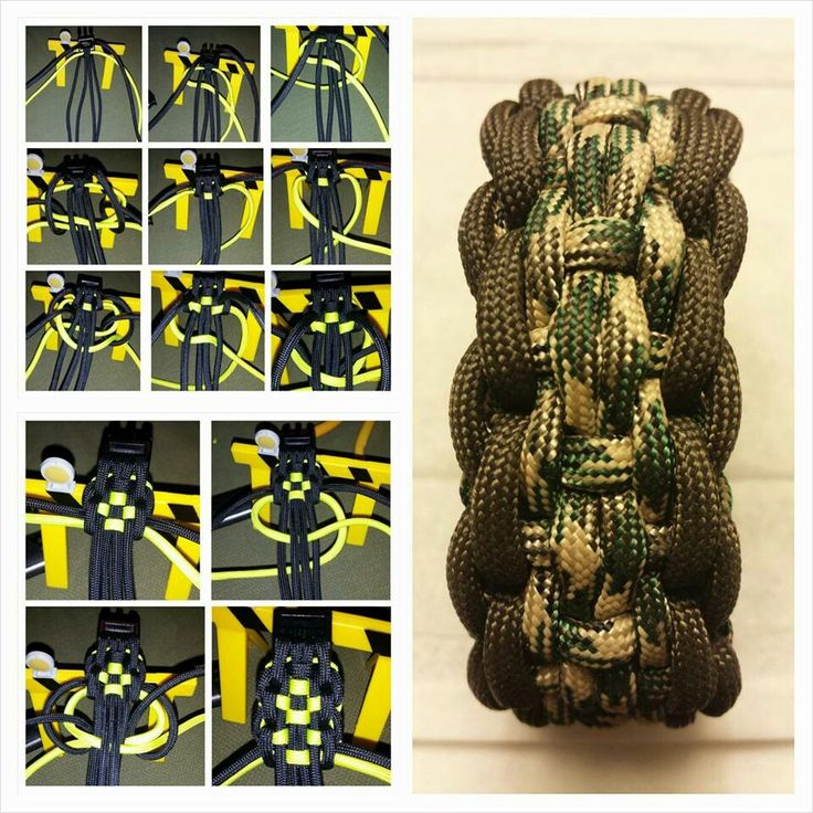 What would YOU name this weave?! Check out this awesome slide-by-slide tutorial and comment in the section below! (Design by Brian Eric Caja) #paracord #tying #knotting #craft #diy #tutorial #pinterest