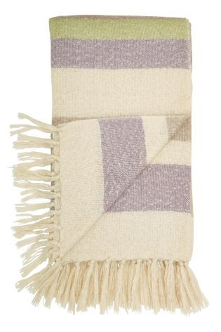 Buy Mauve Stripe Woven Throw online today at Next: Canada