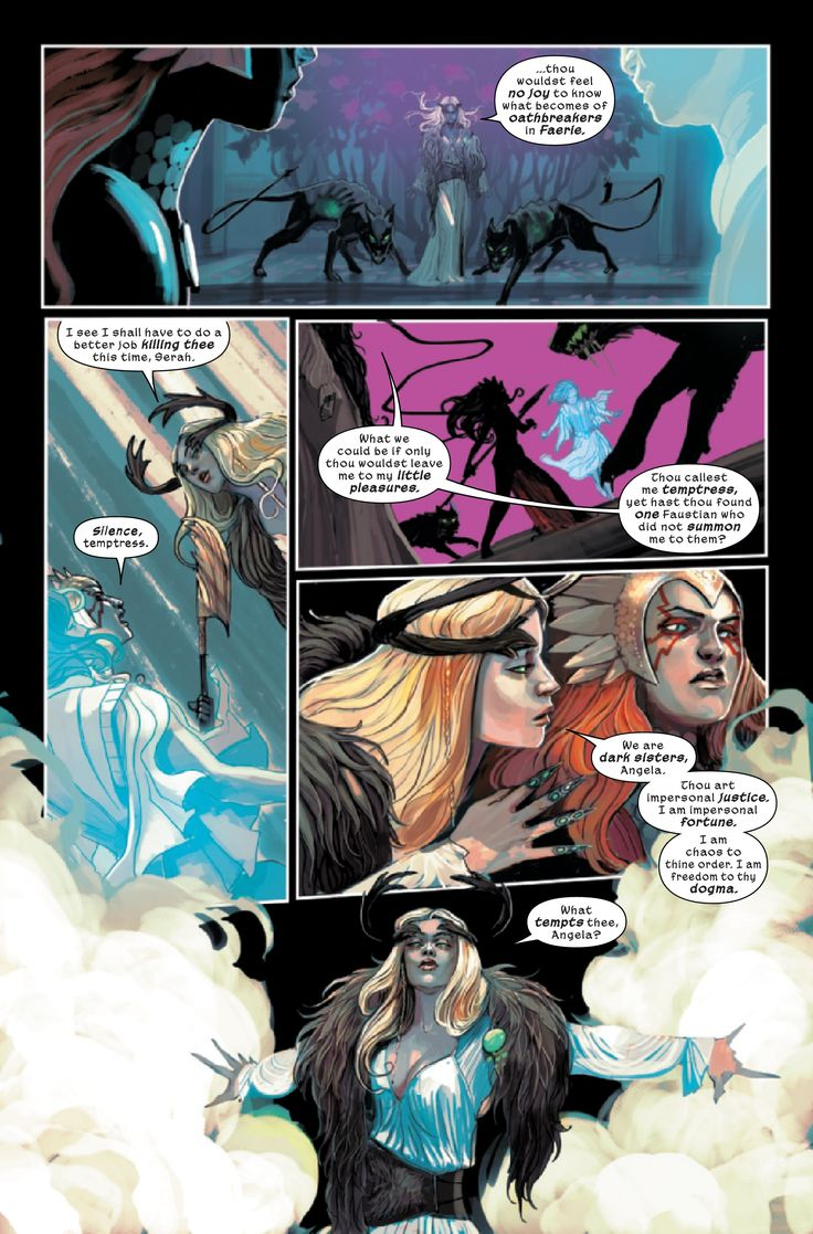 Angela (FAUSTIA) and Amora (The ENCHANTRESS)   Earth 311   PORTFOLIO: Marvel 1602