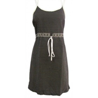 Naritva Elegant Black Dots Dress