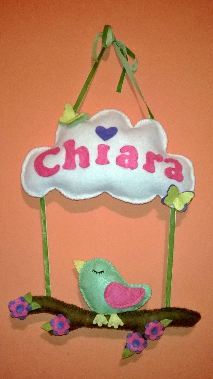 Fiocco nascita realizzato per la mia piccola  Chiara ❤