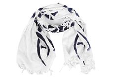 Frmoda.com - Armani Jeans Men's pashmina scarf new white authentic