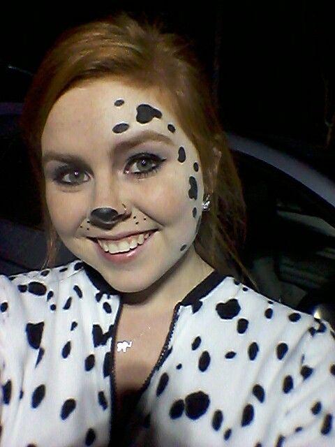 Halloween Dalmatian costume face paint