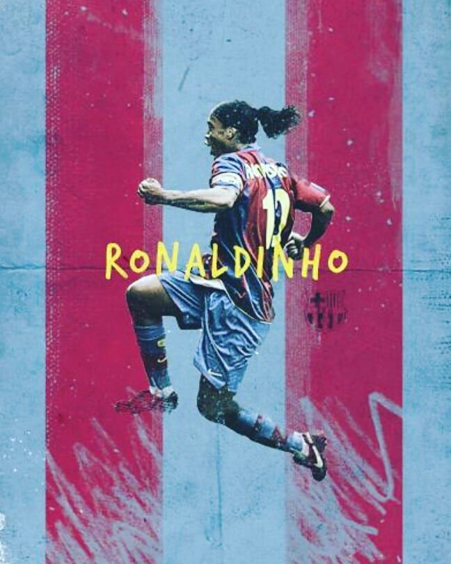 @ronaldinho art Most spectacular football player by far. #puretalent  #purejoy  #pleasure #football  #happiness  #fcbarcelona  #fromanotherera  #hadwork #power #ambition #motivation #positive #addictedtofootball