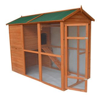 Pawhut Deluxe Large Backyard Chicken Coop/ Hen House with Outdoor Run…