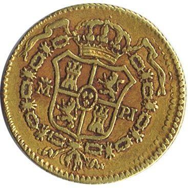 Moneda de oro 1/2 escudo 1778 Carlos III. Madrid PJ., Tienda Numismatica y Filatelia Lopez, compra venta de monedas oro y plata, sellos españa, accesorios Leuchtturm