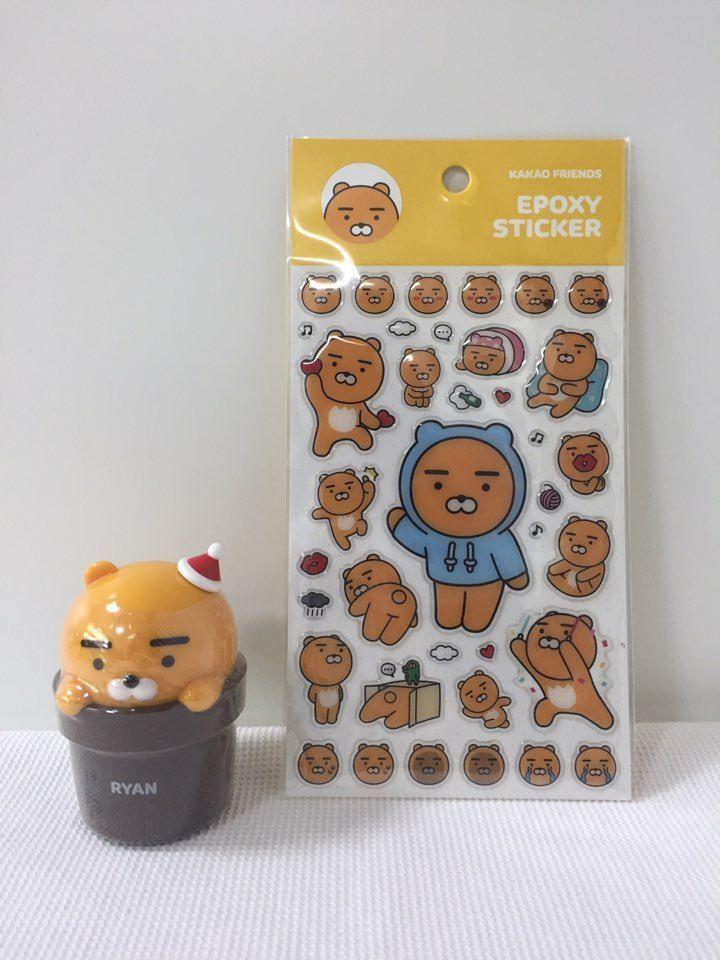 Hand Cream RYAN Character [THE FACE SHOP] Sticker [Kakao Friends] SET  #TheFaceShop