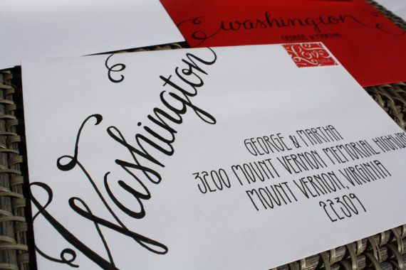 Wedding Calligraphy Envelope Addressing Sample by 5thFloorDesigns, $10.00