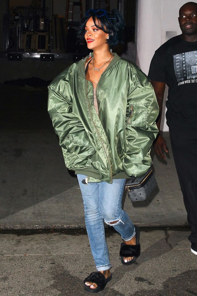 TBT: The Military Roots of Fall's Coolest Jacket on Yahoo Style.  Rihanna rocks an oversized bomber.