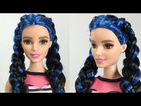 Barbie Doll Hairstyles Diy Barbie Doll Makeover Transformation Youtube Barbie Doll Hairstyles Doll Hair Barbie Hair