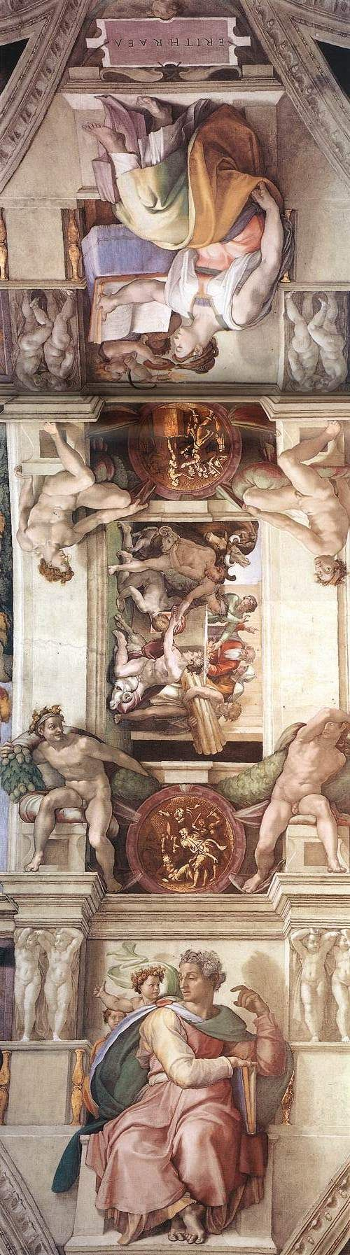MICHELANGELO BUONARROTI - (1475 - 1564) - Sistine Chapel - Ceiling #michelangelo #paintings #art
